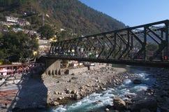 A bridge towards Joshimath Royalty Free Stock Photography