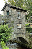 Bridge tower in Ambleside. Bridge Tower over waterflow in Anbleside north west England Stock Photography