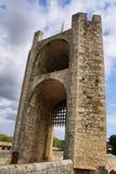Bridge tower in Besalu medieval village Stock Photo