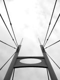 Bridge Tower - Black and White. Suspension Bridge Tower - Black and White Royalty Free Stock Images