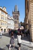 Bridge tower of Charles Bridge, Prague. Royalty Free Stock Images