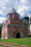 Bridge tower. The Estate Of The Romanovs In Izmailovo recreation park and manor, Moscow, Russia. Bridge tower Royalty Free Stock Photos