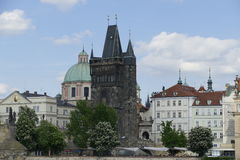 Bridge tower on lesser town in prague Royalty Free Stock Photography