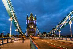 Bridge Tower night view Royalty Free Stock Photo