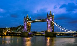 Bridge Tower night view Royalty Free Stock Photos