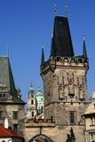 Bridge Tower in Prague Royalty Free Stock Photos