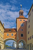 Bridge tower, Regensburg Royalty Free Stock Photos