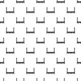 Bridge with towers pattern, simple style. Bridge with towers pattern. Simple illustration of bridge with towers vector pattern for web Stock Photography