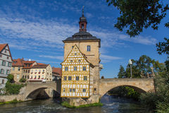 Bridge town hall in Bamberg, Bavaria Stock Images