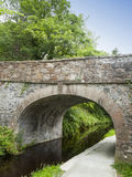 Bridge with towpath in Llangollen North Wales UK. Towpath was used to pull narrow boats by horse power Royalty Free Stock Photos