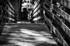 bridge trä Royaltyfri Fotografi