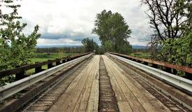 bridge trä Arkivbild