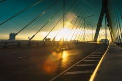 On the bridge. Stock Image