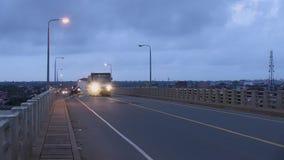 Bridge, traffic, morning,cambodia,southeast asia stock footage
