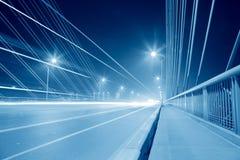 Bridge traffic at night Royalty Free Stock Image