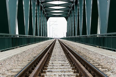 Bridge for a train traffic. Railway bridge for train traffic royalty free stock photo
