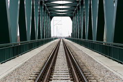 Bridge for a train traffic. Railway bridge for train traffic stock photos