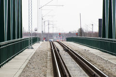 Bridge for a train traffic. Railway bridge for train traffic Royalty Free Stock Image