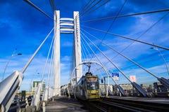 Bridge With Train Under Blue Sky Stock Image