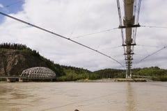 bridge transalaskaen för oljepipelinen Royaltyfri Fotografi