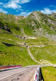 Bridge on transfagarasan route of Romania. Beautiful summer landscape in mountains royalty free stock photos