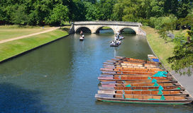 The Bridge at Trinity College Cambridge. Royalty Free Stock Photography