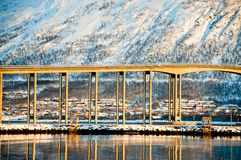Bridge in Tromso Stock Photography