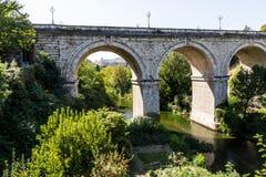 Bridge Tronto river, Ascoli Piceno, Marche, Italy Stock Photography