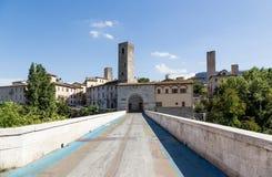 Bridge Tronto river, Ascoli Piceno, Marche, Italy Stock Photo