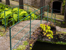 Bridge in Tropical Garden at Monte above Funchal Madeira Royalty Free Stock Photography