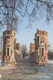 Bridge in Tsaritsino, Moscow Royalty Free Stock Photos