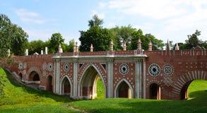 Bridge in the Tsaritsino, Moscow Royalty Free Stock Images