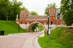 Bridge in Tsaritsino, Moscow. Russia Stock Image