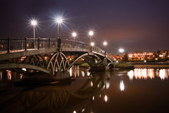 Bridge in Tsaritsino at night Royalty Free Stock Image