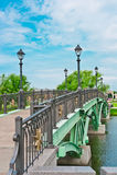 Bridge in Tsaritsino Park, Moscow Stock Images