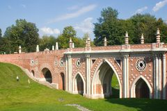 Bridge in Tsaritsyno Royalty Free Stock Images