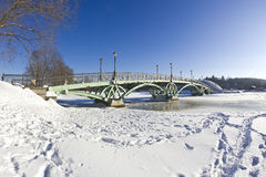 Bridge in Tsaritsyno Royalty Free Stock Photos