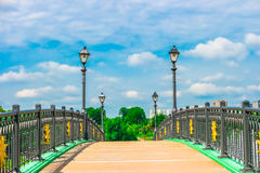 Bridge in Tsaritsyno Park, Moscow Stock Image