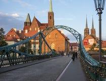 The bridge tumsky wroclaw poland europe Stock Image