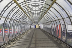 Bridge Tunnel. Inside. Perspective view royalty free stock photos