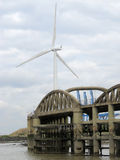 The bridge & the turbine royalty free stock images