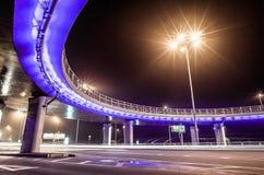Highway under the bridge royalty free stock image