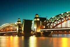 Bridge in twilight Stock Images