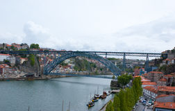 The bridge between two cities Royalty Free Stock Photo
