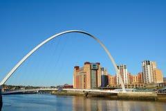 Bridge on Tyne River, Newcastle, England Stock Photos