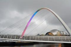 Bridge on Tyne River, Newcastle, England Royalty Free Stock Photo