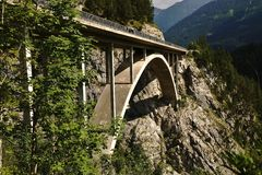 Bridge in the Tyrolean Alps Royalty Free Stock Photos