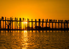Bridge U-Bein teak Royalty Free Stock Photos