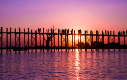 Bridge U-Bein teak bridge Royalty Free Stock Image