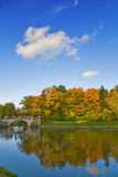 Bridge under autumn cloud Royalty Free Stock Photography